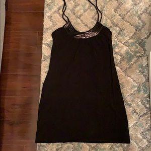 Black, sequin halter top dress.